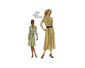 2000 Sewing Pattern - Vogue 8021 - Shirt Dress UNCUT