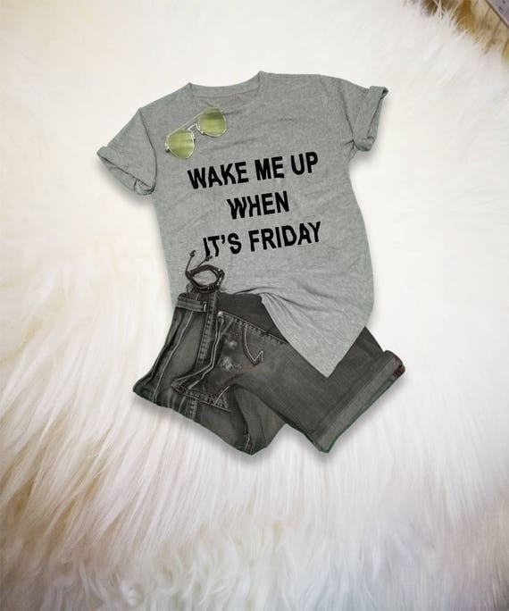 Lighting Basement Washroom Stairs: Funny TShirt For Men Or Women Wake Me Up When Its Friday Shirt
