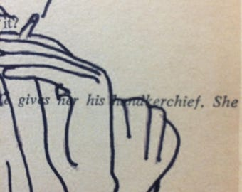 Jean Cocteau Sketch on Tennessee Williams Upcycled Play Page