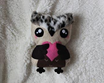 Large valentine heart owl, Owl Plushie, Stuffed owl, Gift for her, Gift for girl, Handmade owl stuffed animal, Felt owl, Girlfriend gift