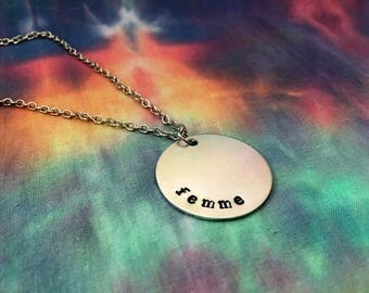 Femme Necklace - Femme Jewelry - Fem Necklace - Queer Femme Necklace - Femme For Femme Necklace - Femme 4 Femme