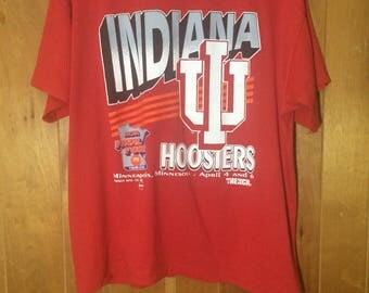 1992 Indiana University Hoosiers NCAA shirt Vintage Adult Large 90s