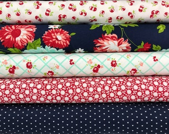 Bundle of 5 Fabrics from The Good Life collection by Bonnie and Camille for Moda Fabrics, Choose the Bundle Size