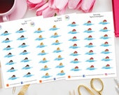 Swimming Planner Stickers for Erin Condren, Happy Planner, TN, Filofax, Personal, ECLP, Pool Time, Holiday, Swim, Lessons, school, weekend