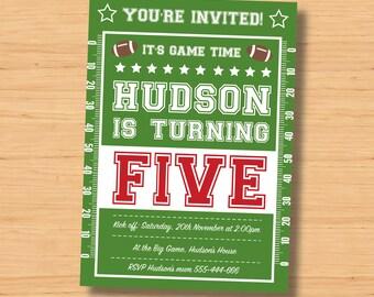 football invitation 5 x 7 inch pdf football party invitation supplies football birthday invitations - Football Birthday Party Invitations