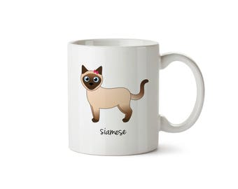 Siamese Cat Mug (girl)
