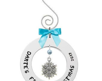 ornament- baby's first christmas ornament- baby ornament- christmas tree ornament- custom ornament- personalised ornamnet- baby keepsake