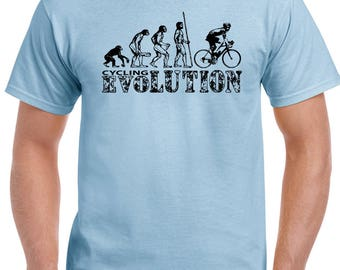 Cycling Evolution Mens Funny T-Shirt Cyclist Bike Bicycle MTB BMX Racer Road 1758