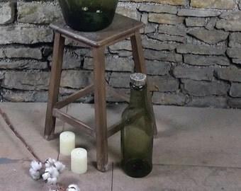 Blown glass - vase - 2L - green bottle.