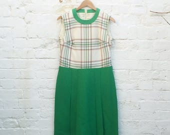 60s Check Sheath Dress