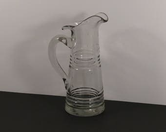 EAPG Revivalist American Antique Mold Blown Significant Glass Pitcher Rare!