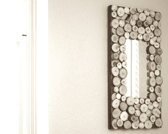 MD Wood Coin Mirror