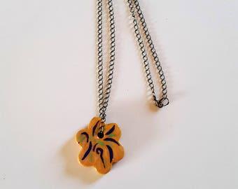 """""""Flower"""" ceramic necklace pendant / / ceramic Provencal Fleur / / provence pendant necklace / / gift MOM"""
