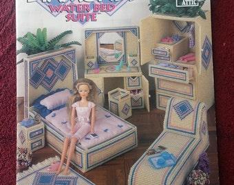 Plastic Canvas Fashion Doll Contemporary Diamonds Water Bed Suite 1996 Annie Attic
