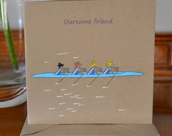 Awesome Friend Card, Freindship Greetings Card, Special person's Birthday, Birthday Card for a Rowing Friend, Rower Friend Card