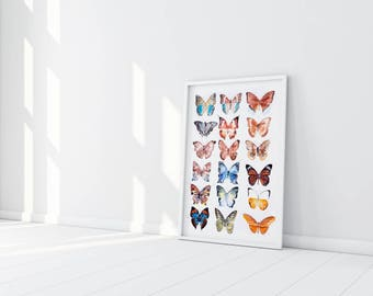 Butterfly Collection No.1 - Signed Print of my original watercolour painting