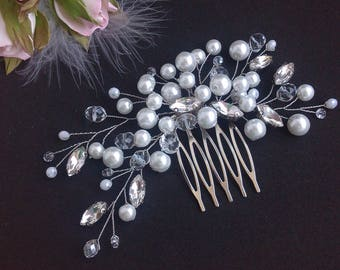 Gift|for|wedding Free shipping Gift|for|women Wedding|accessories Bridal accessories Hair crystal Wedding hair comb