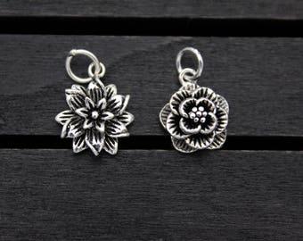 Sterling Silver Flower Charm Pendant