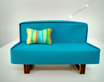 Modern Miniature Armless Sofa 1:12 scale
