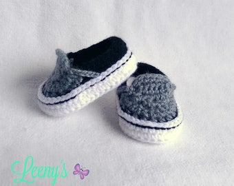 Baby Vans Shoes in Any Color - Crochet