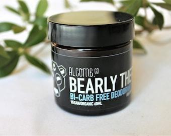 Bi-Carb Free Organic Deodorant Balm [ 5 STARS] 60ml BEARLY THERE - Sensitive Skin / Vegan / Natural / Aluminium Free / Australian Made