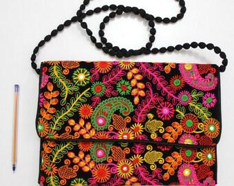 Handmade Ethnic Designer Tribal Banjara Patchwork Embroidered Hippy Fashionable Stylish Trendy Hippie Gypsy Boho Bohemian Clutch Bag F296