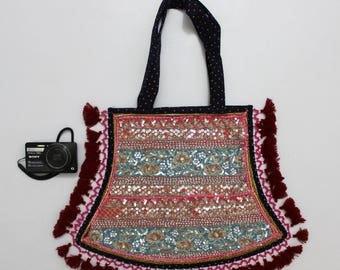Handmade Ethnic Designer Tribal Banjara Patchwork Embroidered Hippy Fashionable Stylish Trendy Hippie Gypsy Boho Bohemian Fancy Bag G276