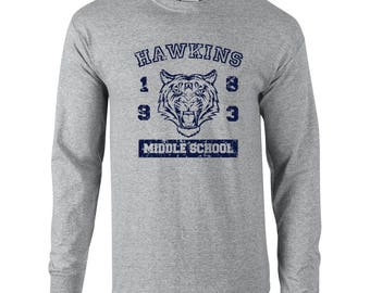 Hawkins Middle School Indiana costume alien weird strange halloween party things - Apparel Clothing - Long Sleeve shirt - 540