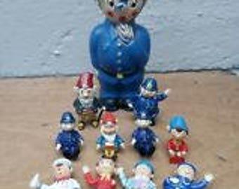 Vintage Noddy Figures & Moneybox - Good Condition
