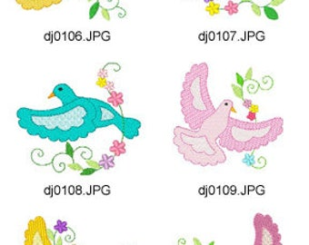 Jacobean-Pidgeons ( 10 Machine Embroidery Designs from ATW ) XYZ17F