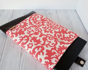 Coral Brown Laptop Sleeve, Damask, Laptop Case, Tablet Sleeve, Tablet Case, Macbook Sleeve, Macbook Case, 12 inch, 13 inch, 14 inch, 15 inch