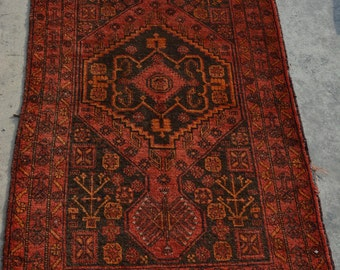 4'9 x 2'9 Antique Handmade Baluch Rug Afghan Nomadic Baluch Rug Baluch Rugs Baluch rug baluch rug