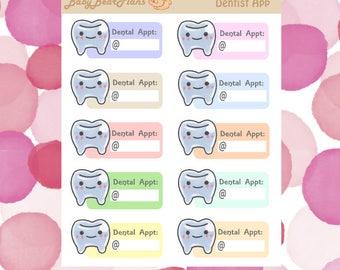 Dentist appointment sticker