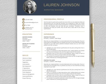 resume template for word professional resume template cv template modern resume template - Professional Resume