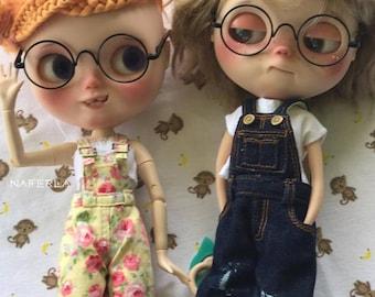 Blythe Round Glasses / Blythe Glasses / Doll Glasses / Blythe Round-Shaped Glasses  - Black