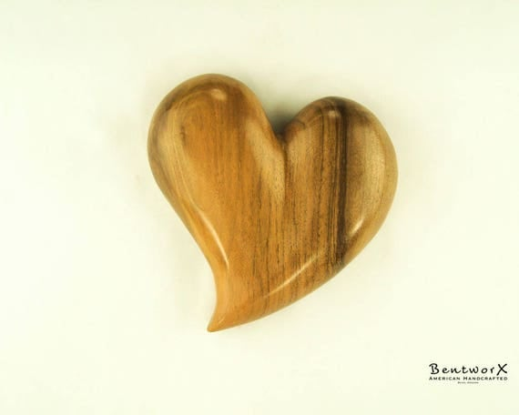 """Show your Love with this """"Beautifully Whimsical"""" English Walnut Heart Wall Art 