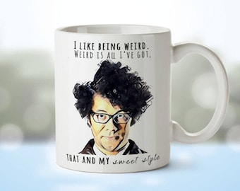 Personalised Mug • Moss from The IT Crowd • 'I Like Being Weird' •