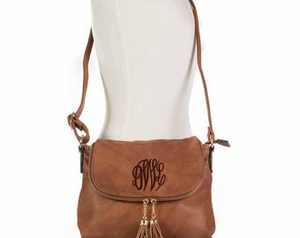 Tassel Crossbody bag in Camel- The Lisa