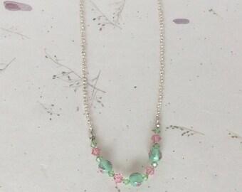 Mint Julep Crystal Necklace