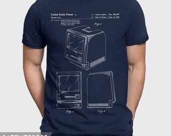 Apple Computer T-Shirt, Apple Macintosh T Shirt, Gift For Geek Shirt, Computer Geek Gift, Engineer Shirt, Patent T-Shirt Computer Shirt P087