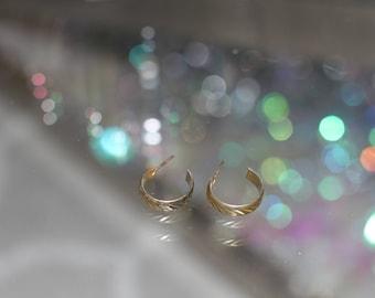 90's Gold Semi Circle Earrings