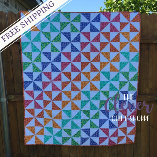 Quilt kits for beginners craft biz pro beginner half square triangles quilt kit solutioingenieria Images