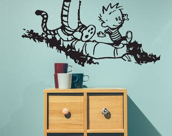 Calvin and Hobbes - Playing Outside - Vinyl Wall Decal