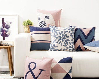 Pink and Blue cushion