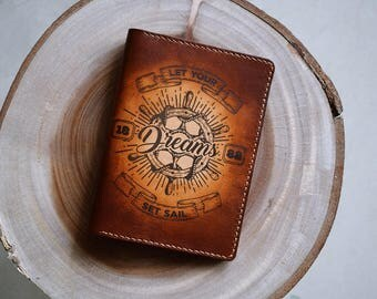 Dream - Leather Passport Wallet/Passport Cover/Passport Holder/Customized passport holder/travel accessories/Birthday gift/Gift for her
