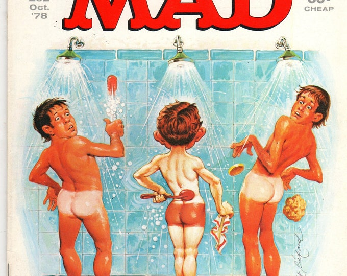 MAD Magazine #202 Alfred in Shower October 1978 Issue