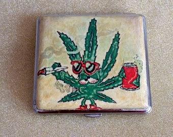 Cigarette case, Metal cigarette case, Cigarette cases, Cigarette case decoupage, Cigarette box, Case for him, Case for her, Card holder.Gift