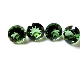 4 pieces 6mm Green Apatite faceted round gemstone, Natural Apatite calibrated Size round cut,  Green Apatite round faceted loose gemstone