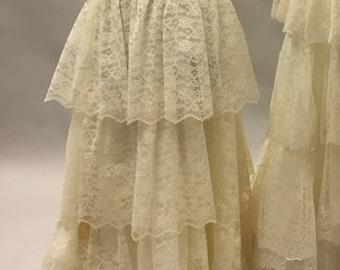 Girl's Cream Flower Girl Dress with Train | Bride Dress | First Communion | Cinderella Play Dress | Cream | Off White | Eggshell