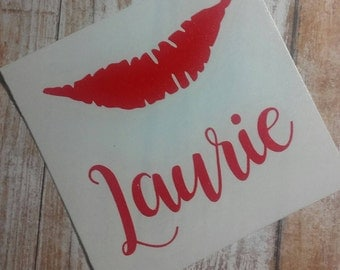 Lipstick Decal/Lipstick Sticker/LipStick/Glitter Decal/Glitter  Lips /Lipstick YETI Cup Decal/Lips/Lipstick Monogram/Lipstick/Glam Decal